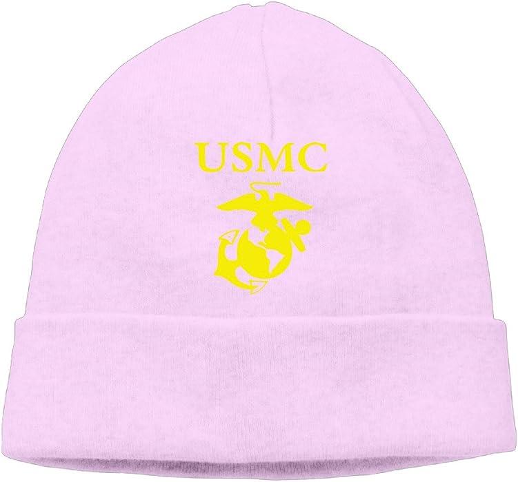 W-CHEN USMC Marine Corps Logo Men's Or Women's Unisex Fleece Beanie