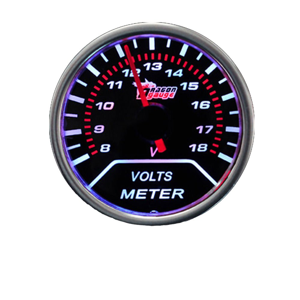 Etopars/™ Car Motor Universal Smoke Tint Len 2 52mm Volt Voltage Indicator Gauge Meter