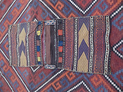 (Handcraftigo Size:4.7 ft by 2.1 ft Handmade Afghan Tribal Baluch Saddle Bag/Vintage Cushion Cover)