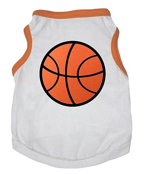 Petitebelle - Vestido de baloncesto para perro, color blanco ...