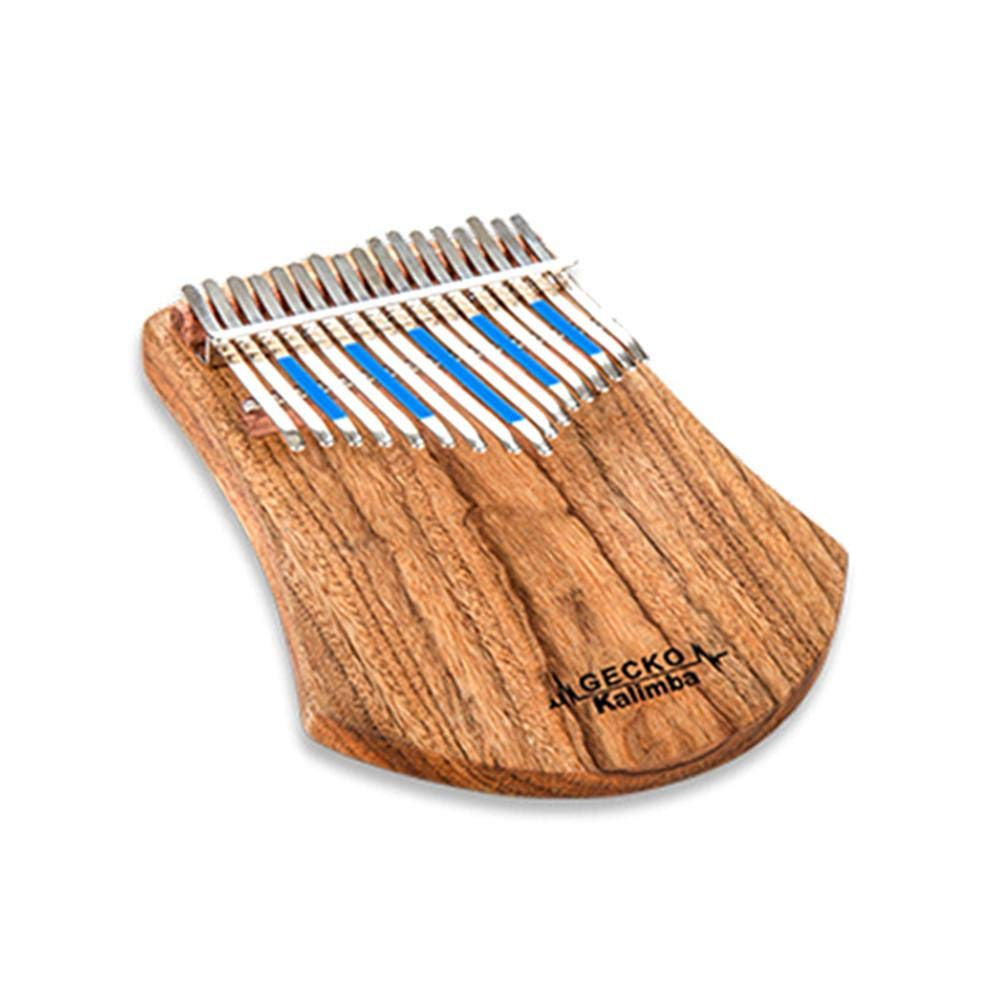 Per 17 Keys Electric Kalimba Portable Thumb Piano Finger Piano Mbira/Marimba Acacia Wood Body with Tune Hammer Beginner Friendly Gecko Pattern