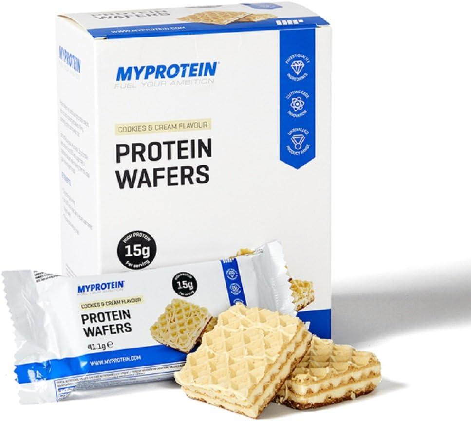 Myprotein Obleas de proteínas, galletas y crema, 10 x 40 g ...
