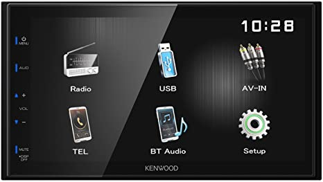 Kenwood Electronics DMX110BT 50W Bluetooth Negro Receptor Multimedia para Coche - Radio para Coche (Am,FM, 87,5-108 MHz, 531-1611 Khz, 17,3 cm (6.8