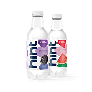 16 oz Hint Water Blackberry & Watermelon Bundle (24 Pack) - 12 Pack Pure Water Infused with Watermelon and 12 Pack Pure Water Infused with Blackberry