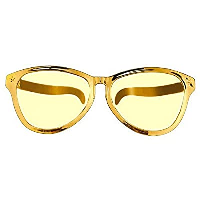 Amscan Jumbo Eyeglasses, Party Accessory, Gold: Kitchen & Dining