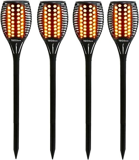 LED Solar-Fackel Gartenlampe Flame Solar-Lampe mit Flammeneffekt IP44 bis zu 8 Stunden Leuchtdauer 2W 20 Lumen