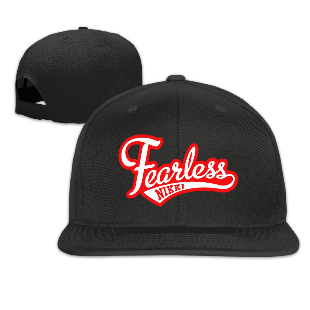 Nikki Bella Logo Fearless Unisex Adjustable Flat Brim Hat Baseball Cap Black