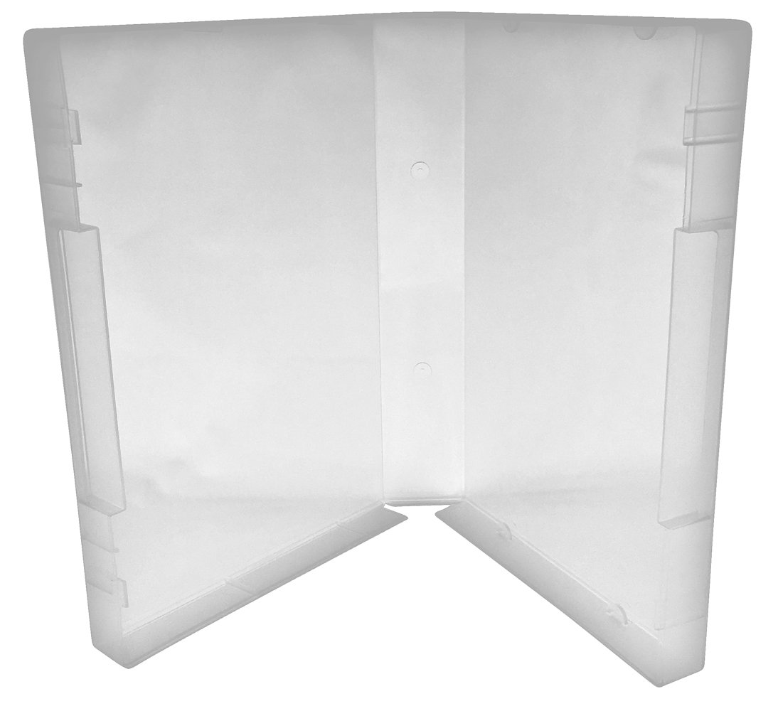 Clear//Spine: 40 mm 5 CheckOutStore Plastic Storage Cases for Wood Mounted Rubber Stamps