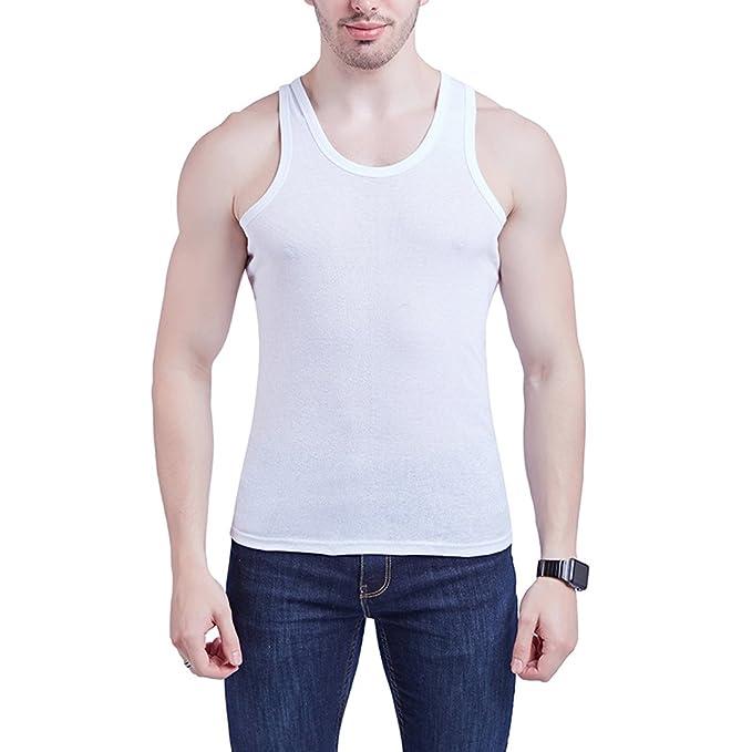 Sidiou Group Camiseta Sin Mangas Algodón Verano Delgado Camisetas de Tirantes Hombre Gym Camiseta Sin Mangas