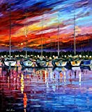 YACHT CLUB is an Oversized, One-of-a-Kind, ORIGINAL OIL PAINTING ON CANVAS by Leonid AFREMOV. We asked Leonid to paint some new, exciting and AFFORDABLE LARGE ORIGINALS for his collectors in the USA. Each of these AMAZING ORIGINAL Masterpieces are ha...