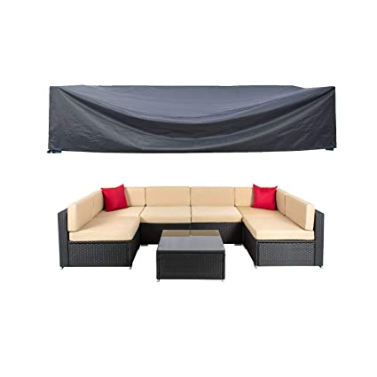 All-purpose Covers Outdoor Cover Waterproof L Shape Furniture Cover Garden Furniture Sofa Rain Dust Cover Wicker Sofa Set Protection Cover Cloth Outstanding Features