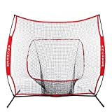 Ancheer 7x7 ft Baseball & Softball Practice Hitting Net with Bow Frame