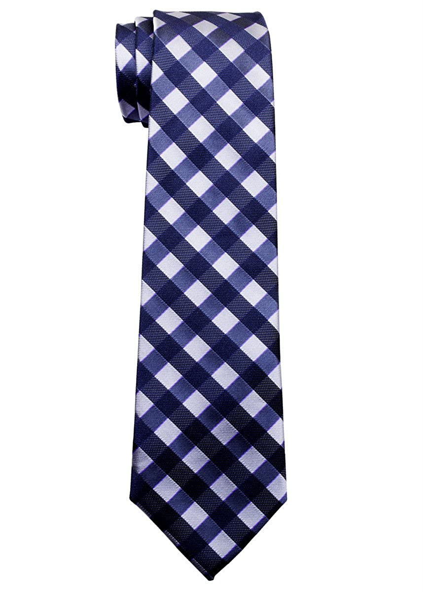 Retreez Classic Check Woven Boys Tie 8-10 years Various Colors