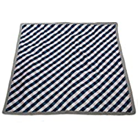 Little Unicorn Outdoor Blanket - Navy Gingham