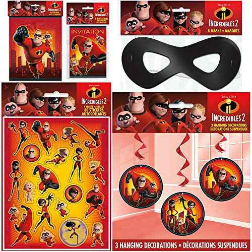 Unique Incredibles 2 Party Favors Bundle Officially Licensed