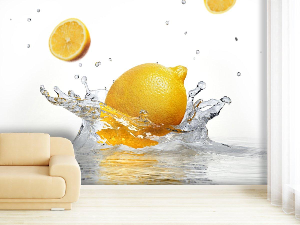 XXL-Tapeten Fototapete Splashing Lemon Lemon Lemon - weitere Größen und Materialien wählbar - DEUTSCHE Profi QUALITÄT von Trendwände B00WCKM1VC Wandtattoos & Wandbilder b9055e