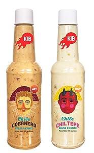 2 Pack KIB Hot Sauce | Cobanero - Chiltepe 150 g Bottles