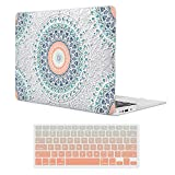 iCasso Macbook Air 13 inch Case Rubber Coated Soft Touch Hard Shell Protective Cover For Macbook Air 13 Inch Model A1369/A1466 With Keyboard Cover - Mandala&Lace