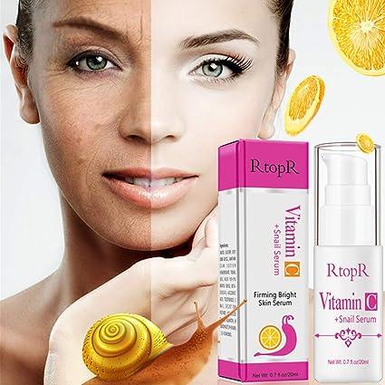 LanLan Sérum de Caracol a la Vitamina C rajeunissement Sérum Facial Rostro Reafirmante Rides Visage Sérum
