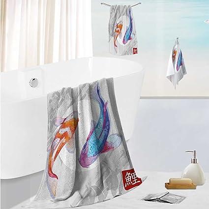 SCOCICI1588 - Toalla de baño Suave y Gruesa, diseño de Peces de Cuna atlántica,