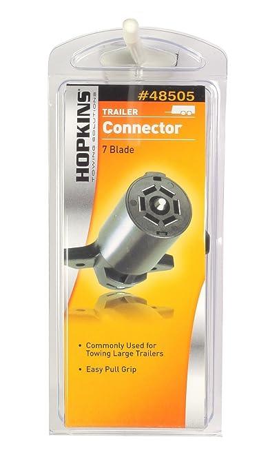 com hopkins pole rv blade trailer connector com hopkins 48505 7 pole rv blade trailer connector automotive
