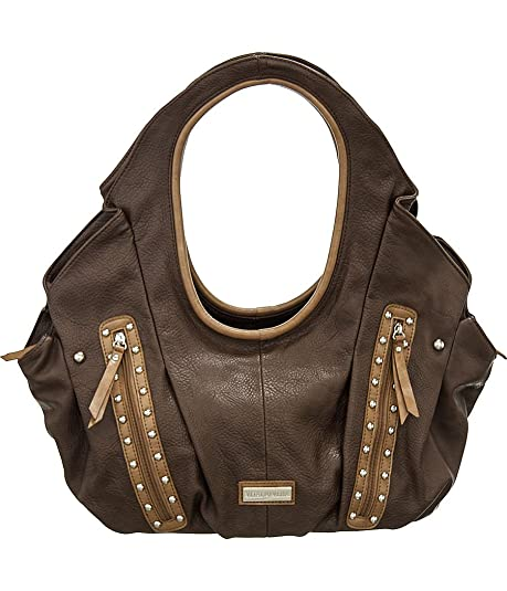 Amazon.com  Vitalio Vera Liliana Dark Brown Oversize Hobo Handbag  Shoes ced02fdbbd
