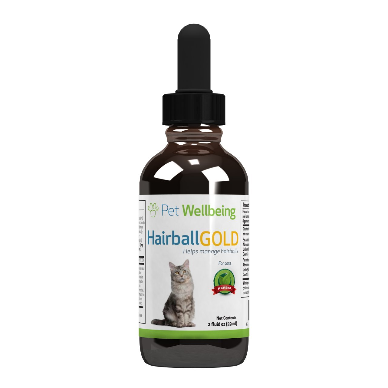 Pet Wellbeing - Hairball Gold for Cats - Natural Hairball Management for Cats - 2oz (59ml)