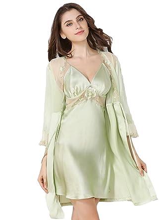 2576cde343 Sunshine Fashion and Simple Silk Pajamase