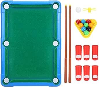 VGEBY1 Mini Juego de Billar de Billar, Juego de Mesa Juego de Billar Billar Juguetes Juego de Mesa Accesorios de Entretenimiento para niños(Azul): Amazon.es: Deportes y aire libre
