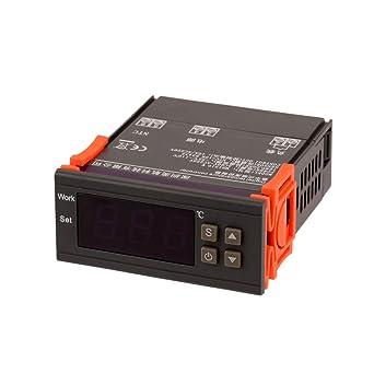 Controlador de Temperatura Digital Pantalla LED Termostato del Mando con el Sensor -50 ℃~