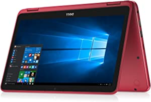 "Dell Inspiron Business 2 in 1 Laptop PC 11.6"" Touchscreen Intel Pentium N3710 Quad-Core Processor 4GB RAM 500GB HDD Wifi HDMI Bluetooth Webcam Windows 10-Red"
