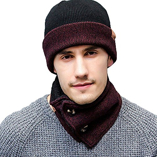2eec35b94 K-mover 3-Pieces Winter Knit Hat Set Warm Beanie Hat + Scarf + Gloves  Winter Set for Men and Women (Gray)