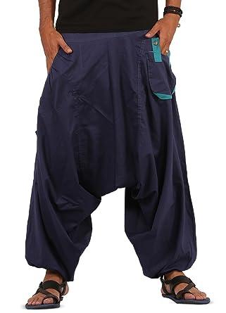 THS Mens Boys Boho Hippie Baggy Cotton Wide Leg Harem Pants - Drop ...