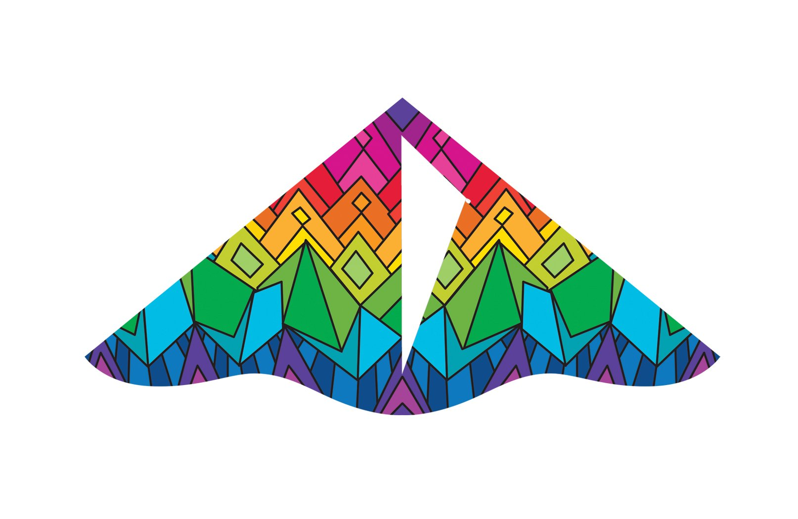 X-Kites Deluxe Delta Nylon Kite Assortment Pack (12-Pack), 42'' by X-Kites (Image #2)
