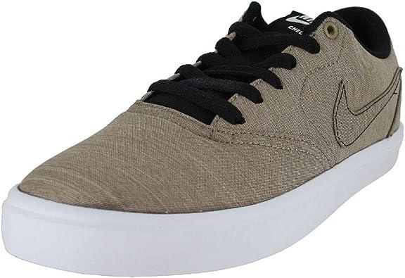 Nike Mens Sb Check Solar Cnvs Prm Khaki White Black Size 8 Skateboarding