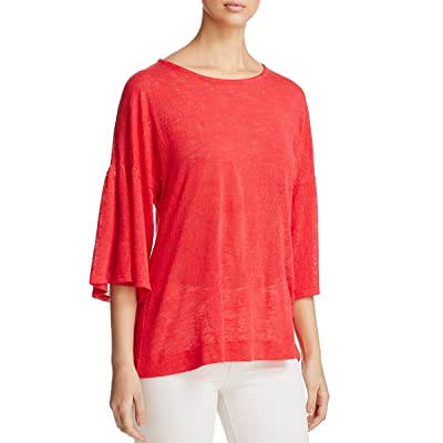 Nally & Millie Womens Knit Burnout Pullover Sweater