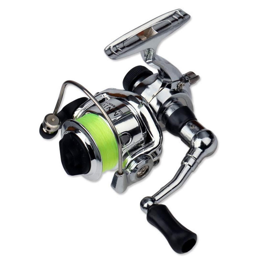 Green XIAMEND Mini Metal Body Spinning Wheel for Fish Reel Fishing Line Shake (color   Green)