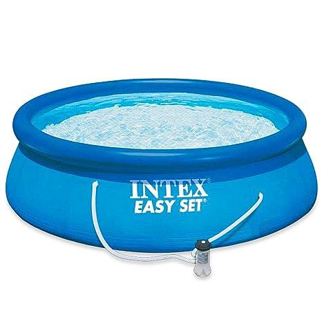 Piscine E Accessori.Intex Agp Piscine E Accessori Easy Con Pompa Filtro Blu 40 96x27 94x57 15 Cm