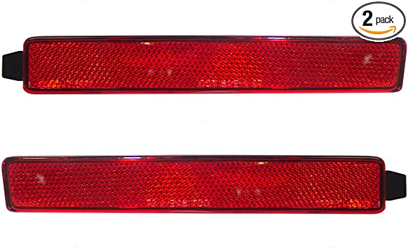 Red Lens Right Rear Bumper Reflector for CADILLAC SRX 2010-2016