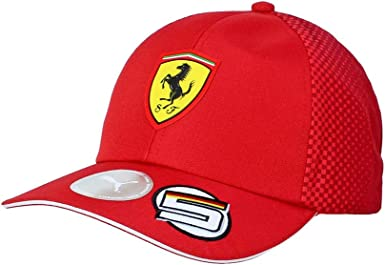 Amazon Com Ferrari Scuderia 2019 F1 Kids Sebastian Vettel Team Hat Red Clothing