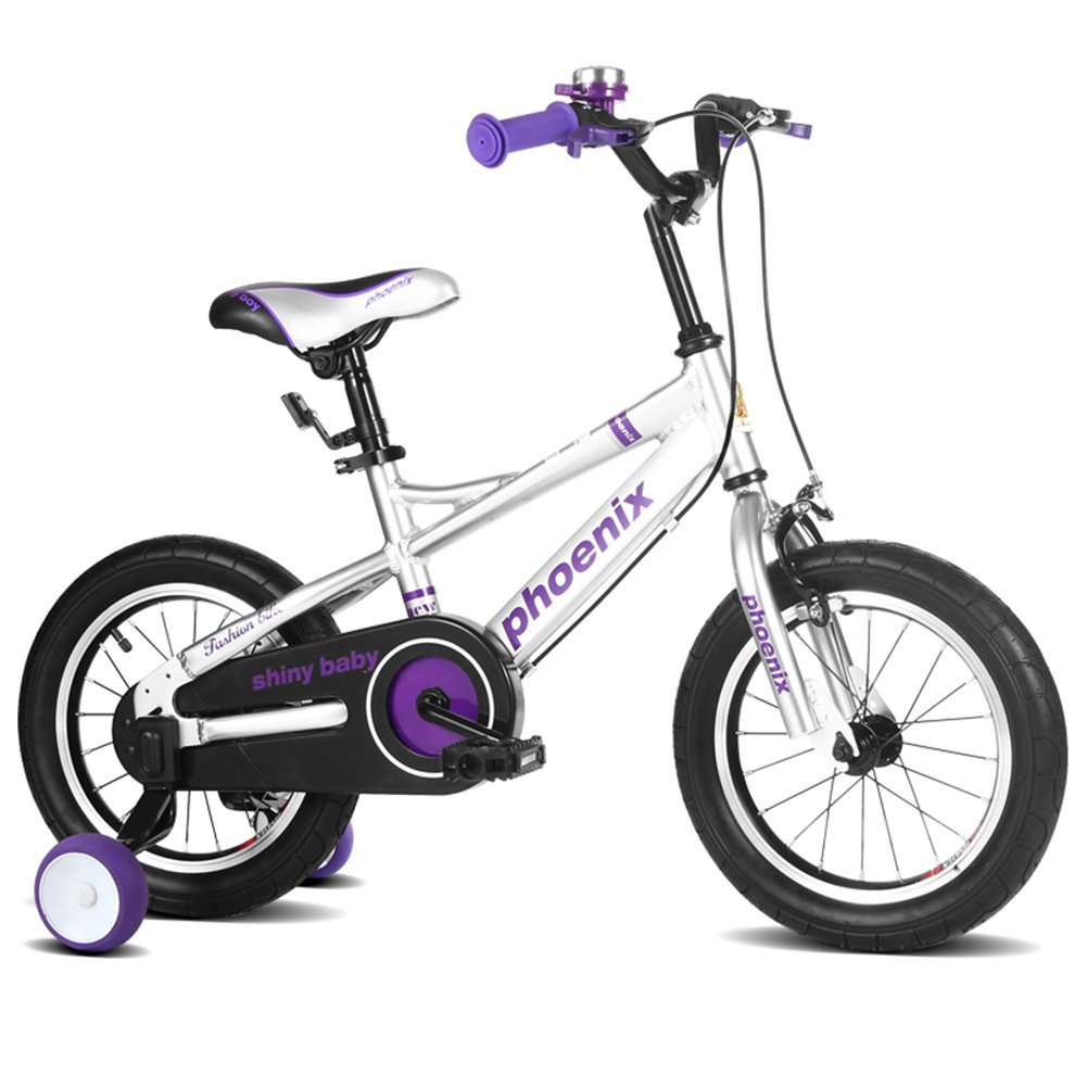 XQ TL-122子供の自転車3-13歳の少年少女のスペースアルミニウム子供の自転車サイズ:105cm 子ども用自転車 ( 色 : 白 ) B07C3HGDBS白