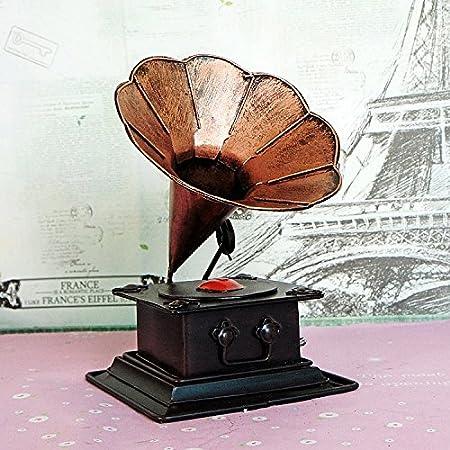 LLL-Antiguo vintage tocadiscos antiguo fonógrafo modelo alto grado ...