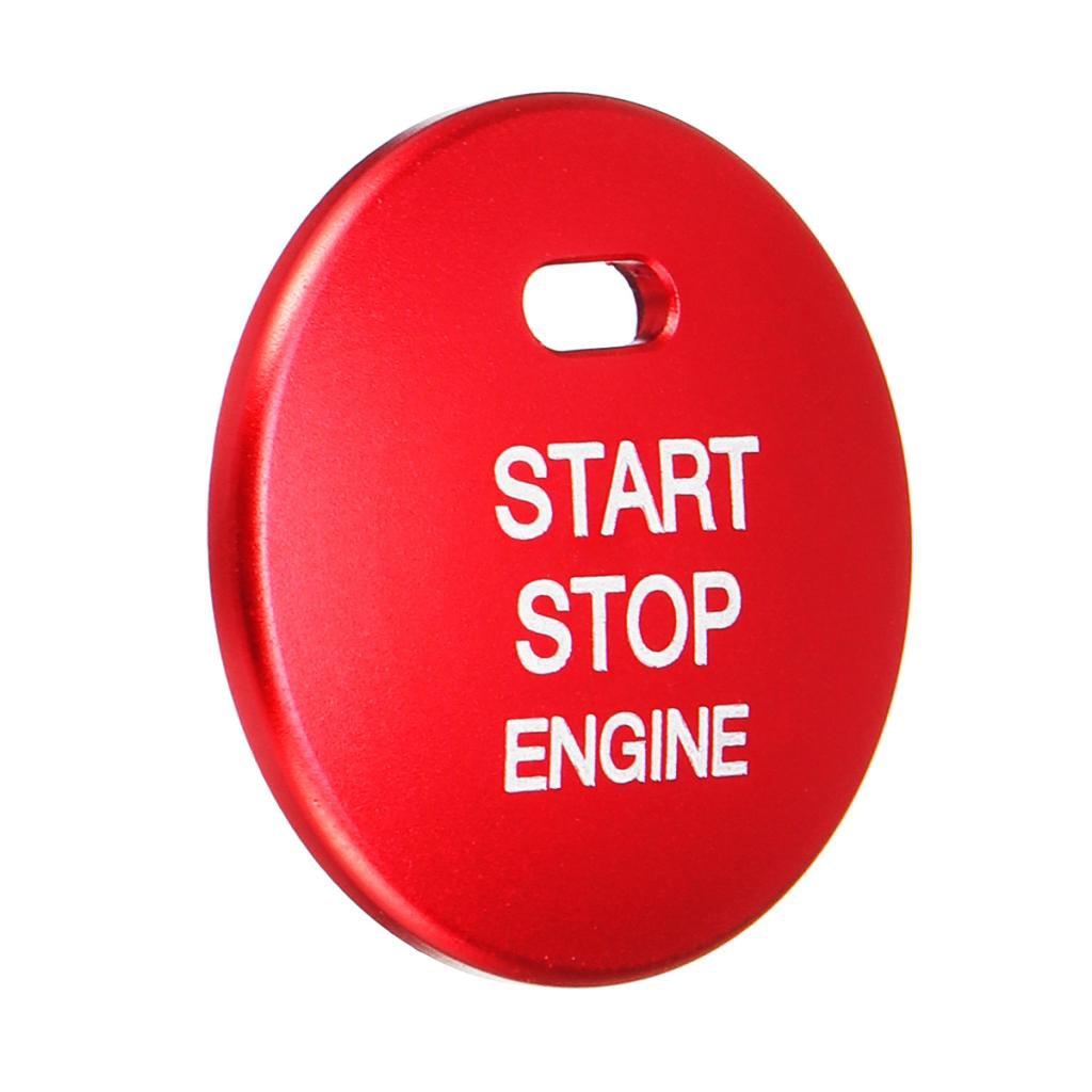 non-brand MagiDeal 1 St/ück Aluminium Motor Start Taste Abdeckung Trim F/ür Autos Rund Abdeckung