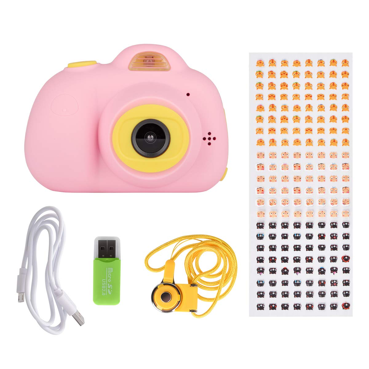 Tyhbelle Kids Camera Video Recorder Anti-Dropping Dual Camera Kids Toy with 16G TF/Micro SD Card (Pink) by Tyhbelle (Image #7)