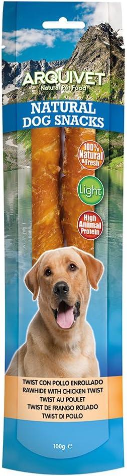Arquivet Twist de pollo enrollado - Natural Dog Snacks ...