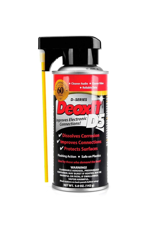 Hosa D5S-6 CAIG DeoxIT 5% Spray Contact Cleaner, 5 oz