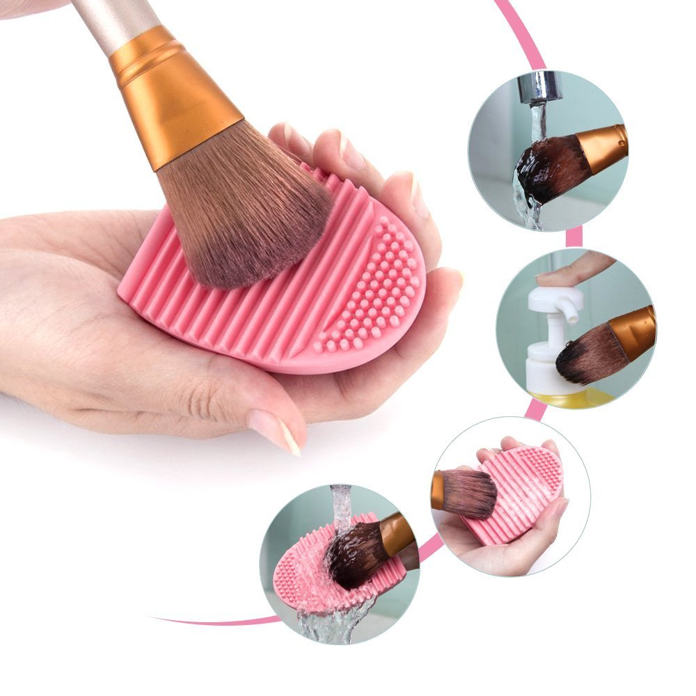 Yica Makeup brush pad, Silicone Makeup Brush Scrubbing Mat, Professional Backup Brush Cleaning Tool