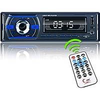 Radio Coche Bluetooth,REAKOSOUND Autoradio 1 DIN Bluetooth Manos Libres Radio Estéreo de Coche Reproductor MP3 con…