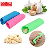 iTimo Garlic Peeler Effective Garlic Presses Ultra Soft Gadgets Creative Silicone Garlic Stripping Kitchen Tools, Random Color