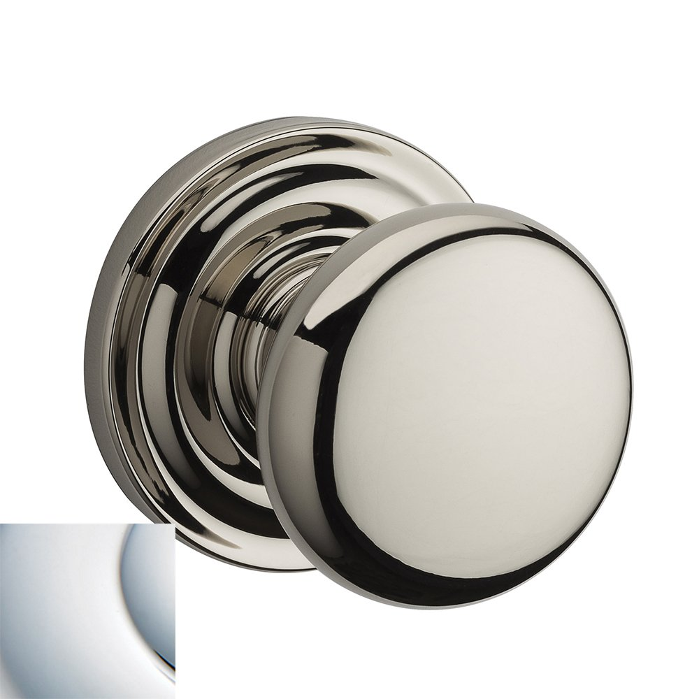 Baldwin PVROUTRR260 Reserve Privacy Round with Traditional Round Rose in Bright Chrome Finish